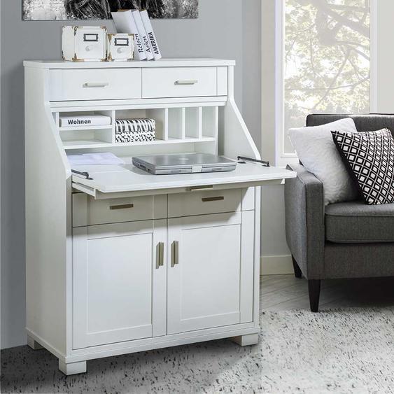 Schreibtisch Schrank in Weiß 85 cm breit