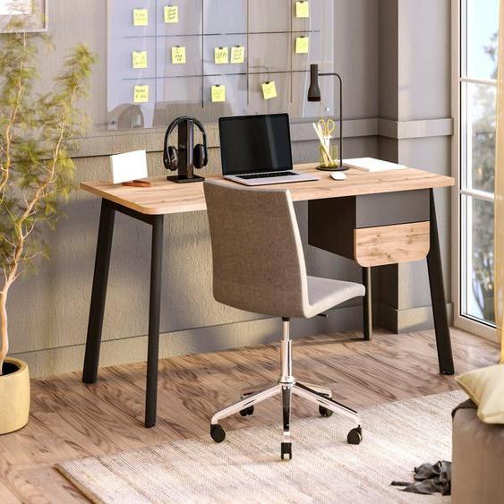 Schreibtisch »Tes«, Schreibtisch Tes mit 2 Schubladen, wahlweise links/rechts montierbar