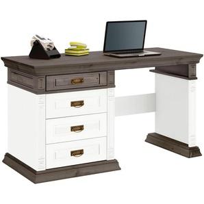 Home affaire Schreibtisch »Vinales«, weiß, 188x60cm, Landhaus-Stil, , , mit Schubkästen