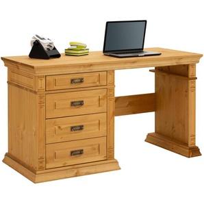 Home affaire Schreibtisch , beige, 188x60cm, Landhaus-Stil, »Vinales«, , , mit Schubkästen