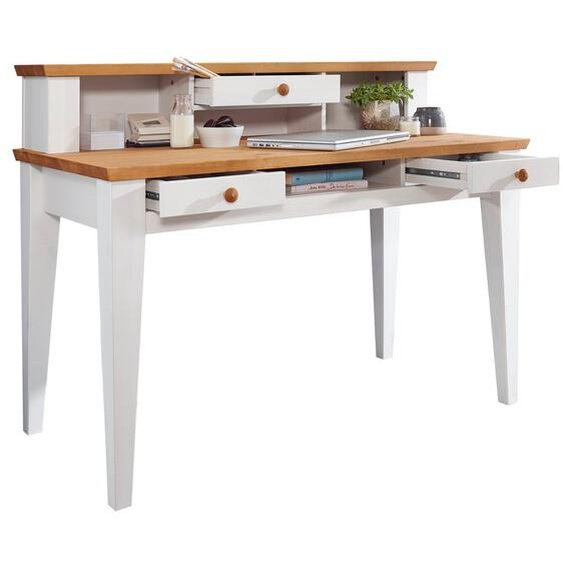 Schreibtisch, Weiß, Holz