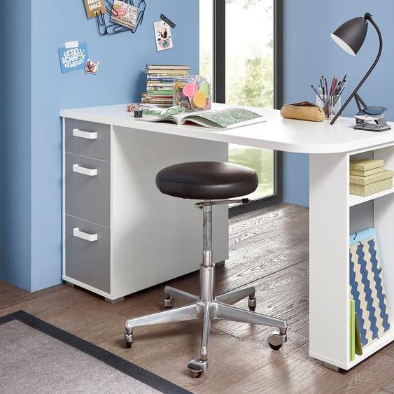 Schreibtisch »Yoris«, mit 3 Schubkästen und seitlichen Fächern