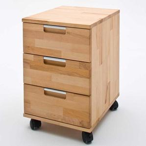 Schreibtischcontainer aus Kernbuche Massivholz ge�lt