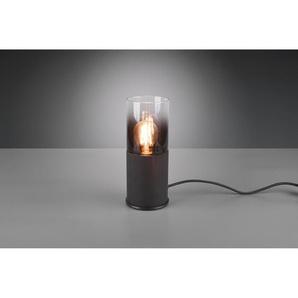 Schreibtischlampe Rn Schwarz matt 1-flammig Metall/Glas E27