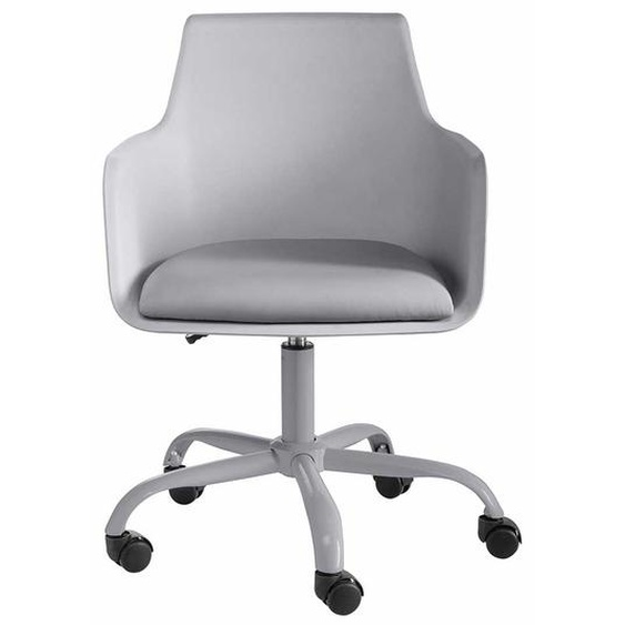Schreibtischsessel in Grau Kunststoff höhenverstellbar