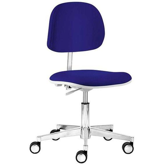 Schreibtischstuhl in Blau Webstoff Made in Germany