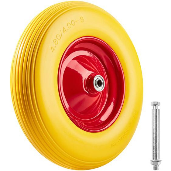 Schubkarrenrad Vollgummi - gelb