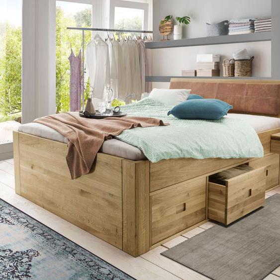 Schubkasten-Bett Blumau, 140x200 cm, Variante 02 - Schubkästen einseitig