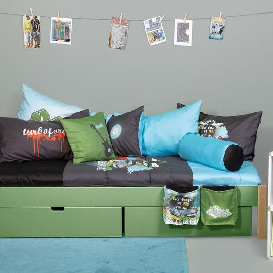 Schubkasten-Bett Kids Town Color, grau, 140x200 cm