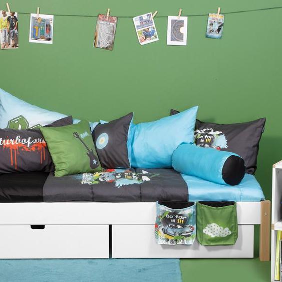 Schubkasten-Bett Kids Town, weiß, 140x200 cm