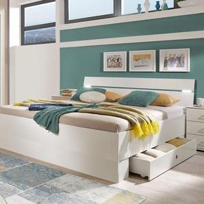Schubkasten-Bett Kiraly, weiß, 180x200 cm