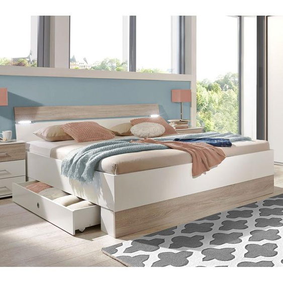 Schubkasten-Bett Kormoran, weiß, 180x200 cm