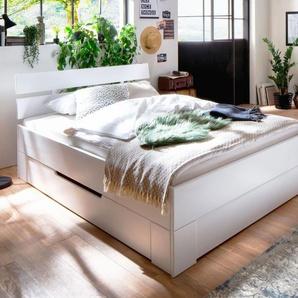 Schubkasten-Bett Ottena, weiß, 140x200 cm
