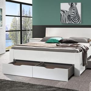 Schubkasten-Bett Siberio, weiß, 90x200 cm
