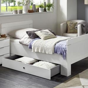 Schubkasten-Einzelbett Aradeo, weiß, 100x200 cm