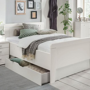 Stabiles Seniorenbett mit Schubkasten 100x200 cm weiß - Calimera