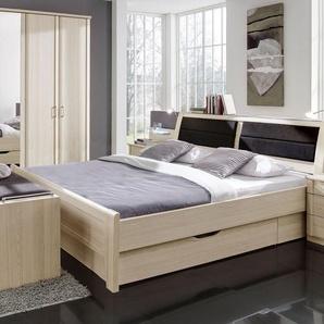 Schubkastenbett Rapino, Esche hell, 180x200 cm, ohne Kopfteil-Bettkasten