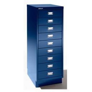Bisley Schubladenschrank - 9 Schubladen für Format DIN A3 - kobaltblau |