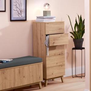 Schubladenturm - braun - Holz -
