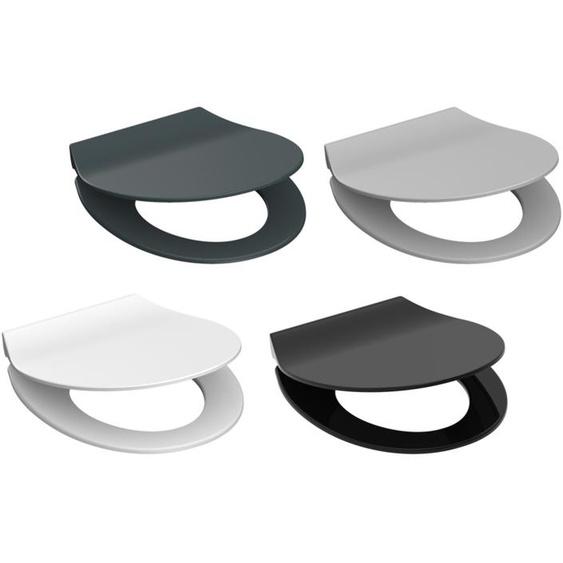 Schütte Toilettensitz »SLIM«, Absenkautomatik,Toilettensitz »SLIM«, Absenkautomatik, pflegeleichte Oberfläche, moderne Farben