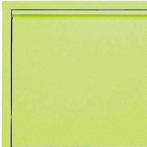 Schuhkipper aus Metall grün, H/B/T ca. 169/50/15cm, 5 Klappen, pflegeleichte Oberfläche, heine home