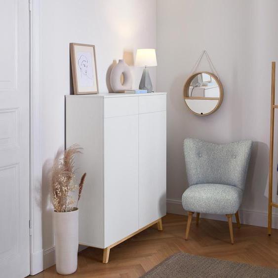 Schuhkommode - weiß - Holz -