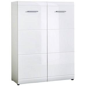 Schuhschrank DANARO-01, 89x120x37cm, Hochglanz weiß