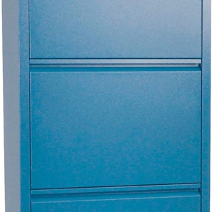 Schuhschrank Melika, aus Metall, 5 Schuhklappen, Höhe 172,5 cm B/H/T: 50 x 15 blau Schuhschränke Garderoben