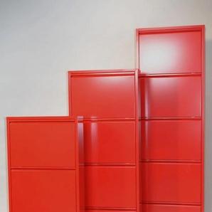 Schuhschrank Mit 5 Klappen rot Schuhschränke Garderoben
