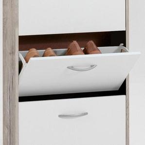 FMD Schuhschrank Breite 58,5 cm, mit 3 Klappen »Step 3«, weiß