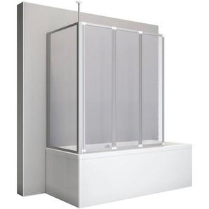 SCHULTE Badewannenaufsatz »Teleskopstange und Seitenwand«, 128,8 x 140 x 75 cm