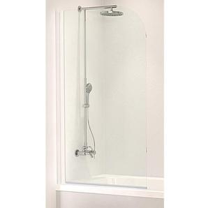 Schulte Badewannenfaltwand 1-teilig, Einfach ohne Bohren 1400 x 800 mm