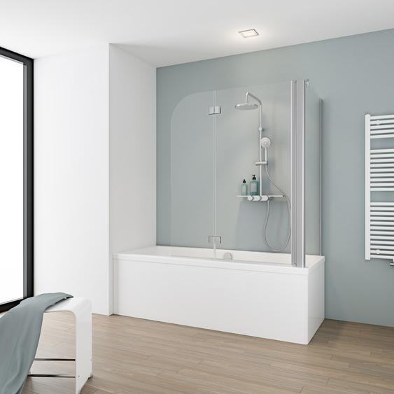 Schulte Eckdusche mit Badewannenfaltwand Komfort 2-teilig inkl. Seitenwand 116,4 x 70 x 140 cm