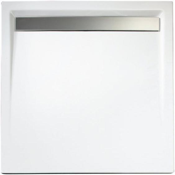 Schulte Duschwanne »extra-flach«, quadratisch, Acryl, Set, quadratisch mit Rinne, BxH: 100 x 100 cm