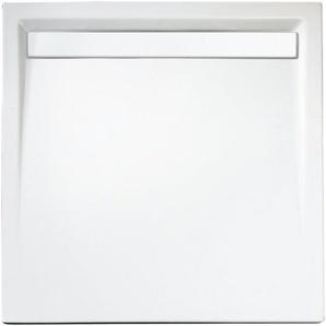 SCHULTE Set: Duschwanne »extra-flach«, quadratisch mit Rinne, 100 x 100 cm