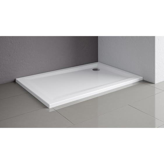 Schulte Duschwanne flach Quadrat weiß 80 x 80 cm