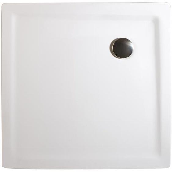 Schulte Duschwanne, Mineralguss, extra-flach, quadratisch, 90 x 90 x 3,5 cm