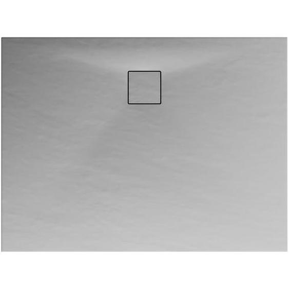 Schulte Duschwanne, Mineralguss, flach, grau, rechteckig, 140 x 90 x 4 cm