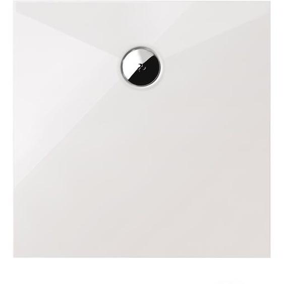 Schulte Duschwanne, Mineralguss, flach, quadratisch, 90 x 90 x 3,5 cm