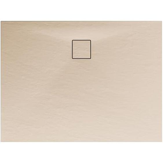 Schulte Duschwanne, Mineralguss, flach, sand, rechteckig, 100 x 90 x 4 cm