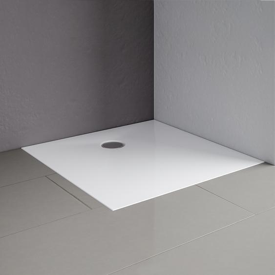 Schulte Duschwanne Mineralguss Quadrat weiß 80 x 80 cm