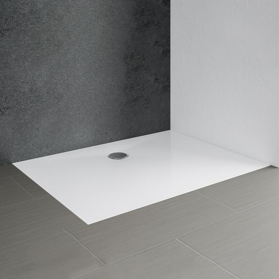 Schulte Duschwanne Mineralguss Rechteck weiß 80 x 120 cm