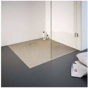 Schulte Duschwanne, quadratisch, Mineralguss, quadratisch, BxT: 900 x 900 mm