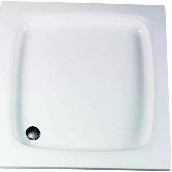 Schulte Duschwanne, quadratisch, Sanitäracryl, flach, 80 x 80 cm