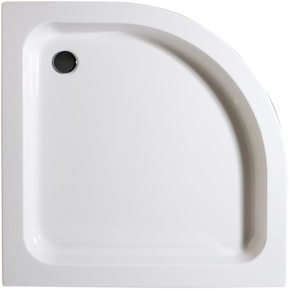Schulte Duschwanne, rund, Sanitäracryl, flach, 90 x 90 cm