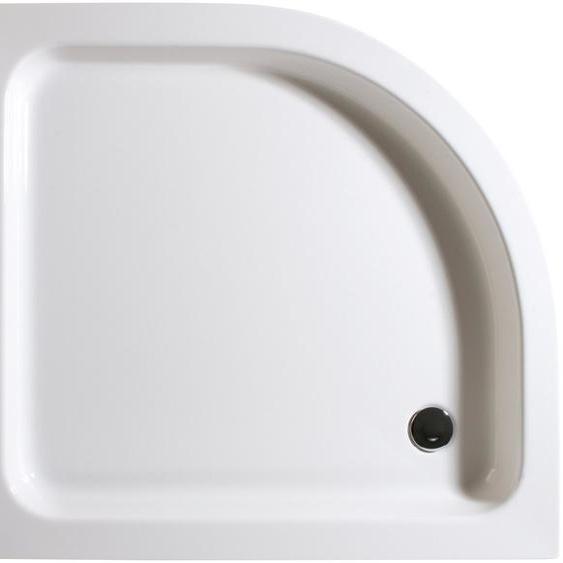 Schulte Duschwanne, rund, Sanitäracryl, flach, Version links, 80 x 90 cm