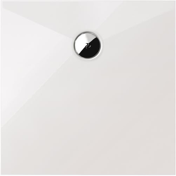 Schulte Duschwanne, Sanitäracryl, ebenerdig, quadratisch, 90 x 90 x 3,5 cm