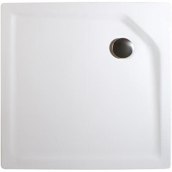 Schulte Duschwanne, Sanitäracryl, extra-flach, quadratisch, 80 x 80 x 3,5 cm