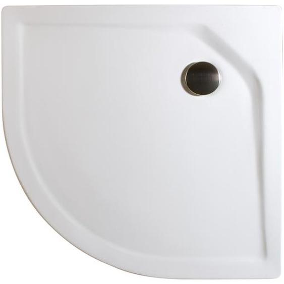 Schulte Duschwanne, Sanitäracryl, extra-flach, rund, 100 x 100 x 3,5 cm