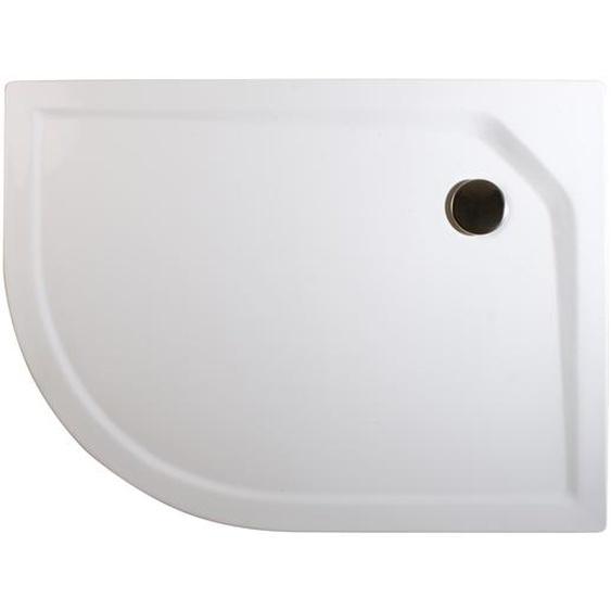 Schulte Duschwanne, Sanitäracryl, extra-flach, rund, 75 x 90 x 3,5 cm